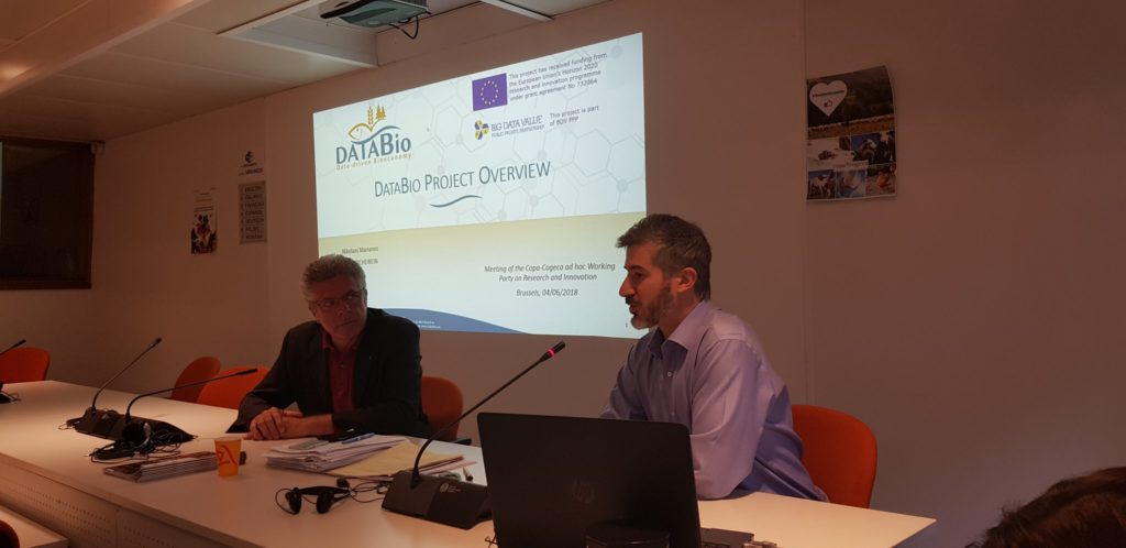 Presentation of the DataBio project at the Copa-Cogeca meeting
